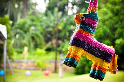 Partying with a Piñata on Cinco de Mayo