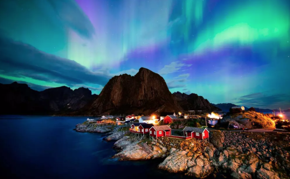 The Arctic Circle and the Northern Lights